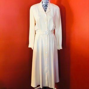 Vintage Land's End 100% Silk Maxi Dress SZ 8